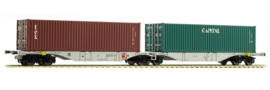 H0 | ACME 40280 - ZSSKC, Containerwagen Sggmrss '90