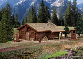 N | Vollmer 47743 -Hunting cabin with well and outside toilet