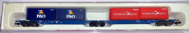 N | Hobbytrain H23702 - Container carrier car Sggmrs