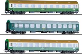"H0 | Tillig 501755 - 3-delige personenwagenset ""Vindobona deel 1"", tijdperk V"