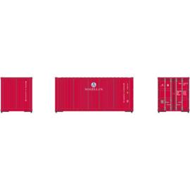 H0 | Athearn ATH28877 - RTR 20' Corrugated Container, MAGU (3)