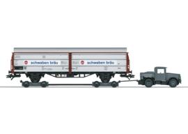 H0   Märklin 46819 - DB, Sliding wall wagon with Kaelble und Culemeyer trailer