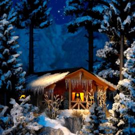 H0 | Busch 1085 - Winter hut