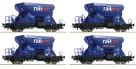 H0 | Roco 76137 -4 piece set: Hopper wagons, Railpro