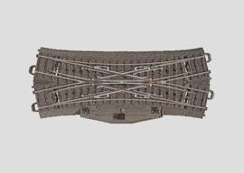 H0 | Märklin 24624 - Dubbele kruiswissel 188,3 mm - 24,3Gr (C-rail)