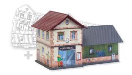 H0 | Faller 150110 - BASIC Station, incl. 1 paintable model