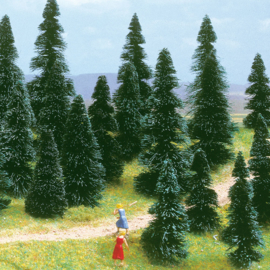 H0 | Busch 6405 - 10 pine trees
