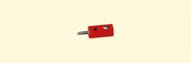 Brawa 3052 - stekker Ø 2.5mm rood (10 stuks)