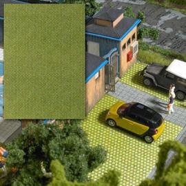 H0 | Busch 7431 - 3-D-Decorplaat »Gazonstraatstenen«