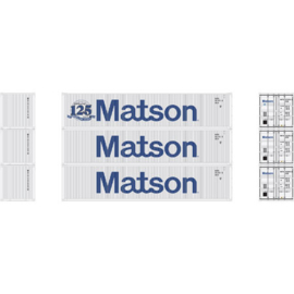 H0 | Athearn ATH27160 - 40' Low-Cube Container, Matson (3)