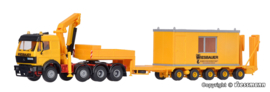 H0 | Kibri 13578 - MB SK 4-axle with WIESBAUER low-loader trailer with container