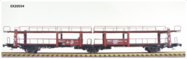 H0 | Exact Train EX20554 - NS Lacs 3-axle car transport wagon