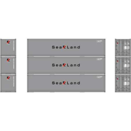 H0   Athearn ATH 27168 -RTR 40' Smooth Side Container, Sealand (3)