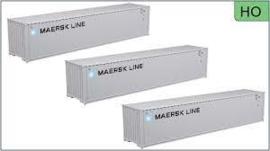 H0 | Atlas 20005038 - 40' Standard height container, MAERSK LINE [MRKU] SET #1 (3 Pack)