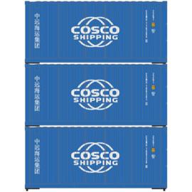 H0 | Athearn ATH28857 -20' Corrugated Container, COSCO (3)