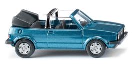 H0   Wiking 004604 - VW Golf I Cabrio - oceanic blue met. (1)