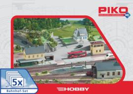 H0   Piko 61923 - 5 delige stationsset