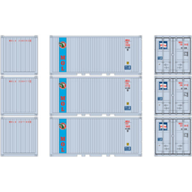 H0 | Athearn ATH27840 - 20' Corrugated Container w/Panel, MOLU (3)