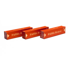 H0 | Athearn ATH29174 - Container 3 Pack 40' – Pasha Hawaii
