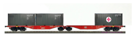 H0 | ACME 90165 - Type Sggrss 80 articulated container car of the DB AG