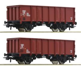 H0 | Roco 76136 - 2 piece set: Open goods wagons, NS