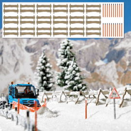 H0 | Busch 1120 - Snow fences and posts