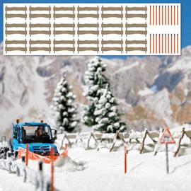 H0 | Busch 1120 - Sneeuwhekken en palen