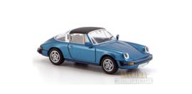 H0 | Brekina 16351 - Porsche 911 Targa (G-Modell) , blue metallic.