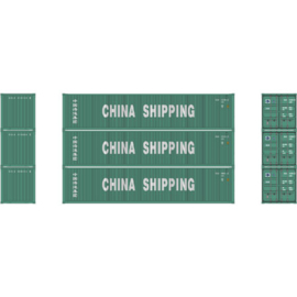 H0 | Athearn ATH27157 - 40' Low-Cube Container, China Shipping (3)