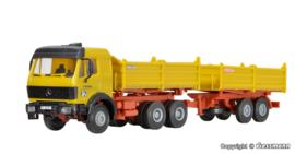 H0 | Kibri 14674 - MB kiepwagen met aanhanger