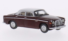 H0 | BoS-Models 87110 - Rover P5B Coupe, donkerrood/lichtgrijs, RHD, 1967