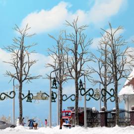 H0 | Busch 6158 - 4 winterse plantanen