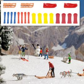H0 | Busch 7769 - Sleeën en ski's
