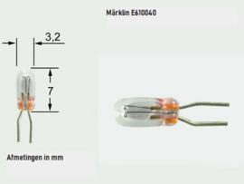 H0 | Märklin E610040.1 - Gloeilamp 19V/70mA, T1 BI-PIN (1 stuks)