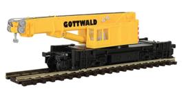 N | Kibri 19600 - Gottwald railroad crane