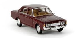 H0   Brekina 19401 - Ford 17m (P7b), wine red.