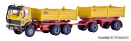 H0 | Kibri 14067 - Kiepwagen met aanhanger Kirchhoff - 37095