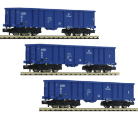 N | Fleischmann 852329 - PKP cargo, 3 delige set hoge boord goederenwagons