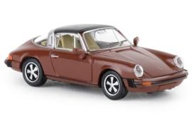 H0 | Brekina 16363 - Porsche 911 G targa, brown, 1976, TD.