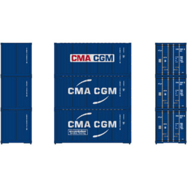 H0 | Athearn ATH27961 - Container 3 Pack 20' – CMA CGM