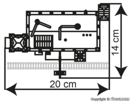 N | Kibri 37223 - Fabriek uit de begintijd