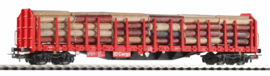 H0 | Piko 54339.2 - DB AG, Houttransportwagen Roos-t642