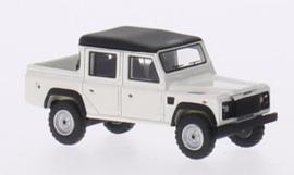 H0 | BoS-Models 87096 - Land Rover Defender 110 Double Cab Pickup, wit/mat-zwart, RHD, 1990