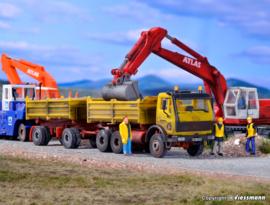 H0 | Kibri 14067 - MB tipper with trailer KIRCHHOFF