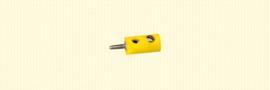 Brawa 3051 - stekker Ø 2.5mm geel (10 stuks)