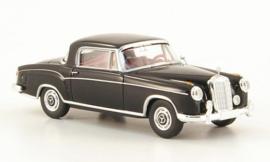 H0 | Brekina Starmada 13500 - Mercedes 220 S Coupe (W180 II), zwart, zonder omkarton