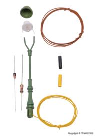 H0 | Viessmann 6728 - Standaard gaslamp, groen, LED warmwit, bouwpakket