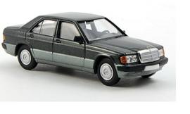 H0 | Brekina Starmada 13206 - Mercedes 190 D (W201), metallic-donkergroen