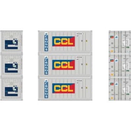 H0 | Athearn ATH28850 - 20' Reefer Container, Cronos/CCL (3)
