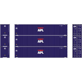 H0 | Athearn ATH27034 - 45' Container, APL (3)
